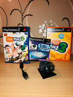 Eye Toy Bundle for Sony Playstation 2 (PS2) 3 Games and Eye Toy Camera