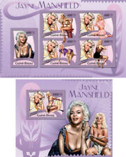 Jayne Mansfield Cinema Hollywood Movies Guinea-Bissau MNH stamp set