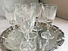 Vintage French Glasses Bistro Port Glass 1920s Christmas Table Vintage Bar 5pc