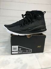 NEW Mens Sz 12 Under Armour Curry 4 Basketball Shoes Black White More Range