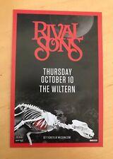 RIVAL SONS oct 10 2019 handbill wiltern Los Angeles