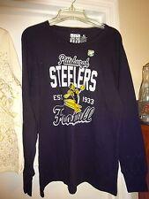 Junk Food Pittsburgh Steelers NFL Black Long Sleeve XL Top NEW