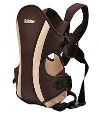 Bébéar Babytrage Baby Tragetasche Rückentrage Bauchtrage Carrier Braun bis 9 kg