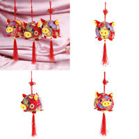 Mascot chinese knot flower pig plush pendant jubilation for kid plush toy dollWU