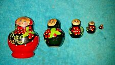 Russian Matryoshka Cherry Blossom Nesting Dolls-Belarus Nested Doll-Hand Painted