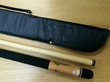 Powerglide Pool Cue Triquetra Center Joint American 11 mm Tip And Soft Case
