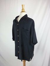 Tommy Bahama black Silk EVENING button down s/s shirt large