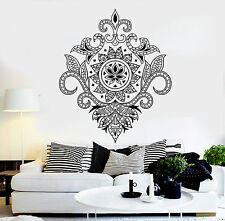 Vinyl Wall Decal Floral Ornament Flower House Interior Stickers (ig4470)