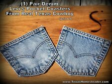 Pair Denim Levi Jean Pocket Coasters from Real Texas Cowboy 1