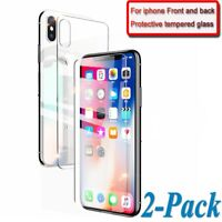Front Tempered Glass Screen Protector + Back Full Cover for iPhone Xs Max XR 8 7