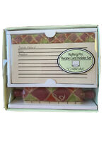 Rolling Pin Recipe Card Holder Set Counter Art  Tuscany Style Kitchen Home Decor