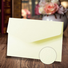 A6 POCKETFOLD INVITATIONS IVORY TEXTURED + MATCHING  ENVELOPES + BLANK INSERT