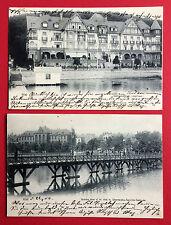 2 x AK KIEL 1903/04 Logirhaus und Brücke     ( 9124