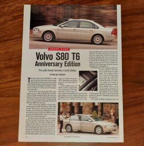 VOLVO S80 T6 MAGAZINE ARTICLE ANNIVERSARY EDITION STOLID SWEDE SOCIAL CLIMBER