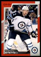 2020-21 UD O-Pee-Chee Red Border #311 Anthony Bitetto - Winnipeg Jets