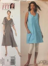 Vogue Sewing Pattern 1101 Tunic Dress Sandra Betzina Misses Size OSZ B32 - 55