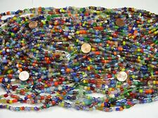 2 Pounds Assorted India Handmade Spacer Glass Beads Wholesale Bulk Lot (TD-71)