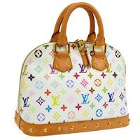 Auth LOUIS VUITTON Alma PM Hand Bag Monogram White Multi-Color M40443 AK26030d