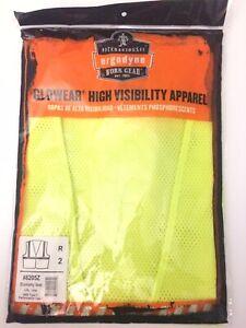 Ergodyne Tenacious Work Gear Size L/XL Lime Class 2 Type R High Visibility Vest