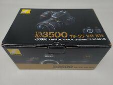 Nikon D3500 24.2MP DSLR Camera with AF-P DX NIKKOR 18-55mm f/3.5-5.6G VR LensNEW