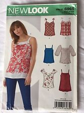 New Look Sewing Craft Pattern 6965 Size A NEWLOOK Girls Ladies Misses Tops