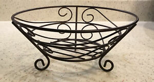Fruit Basket For Home, Counter Tops, Office, Kitchen Wrought Iron  Unused, New