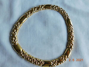"Gorgeous Swarovski Crystal, Choker Collar Necklace, 18"" Gold Plated - Retired"