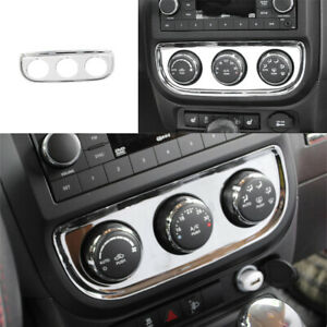 ABS Chrome Air Conditioning switch Panel Trim For 2010-2016 Jeep patriot/compass