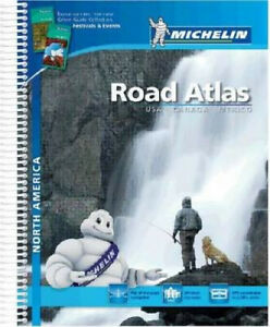 USA Canada Mexico 2015 A4 Spiral Atlas (Michelin Tourist and Motorist Atlas)
