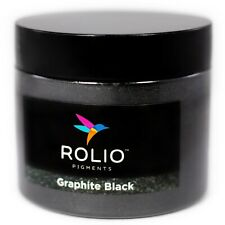 Rolio Mica Powder Graphite Black 50g - For Epoxy Resin, Candle, Cosmetic Making