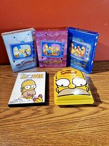 The Simpsons Season 1 3 4 6 Plastic Homer Case Collectors Edition The Movie DVDs