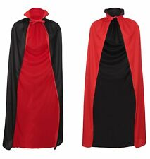 HALLOWEEN CAPE VAMPIRE DRACULA CAPE BLACK AND RED FANCY DRESS HALLOWEEN