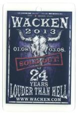 Wacken Pass - gebraucht - Pass 2013 - laminiert - wie abgebildet