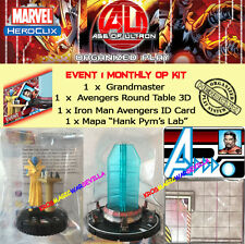 HEROCLIX AGE OF ULTRON EVENT 1 OP KIT Grandmaster + Round Table + ID Card + Map