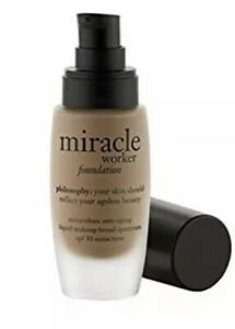 NEW 1 OZ PHILOSOPHY MIRACLE WORKER ANTI-AGING FOUNDATION SHADE= 10 *NO CAP*