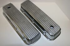 BBC Finned Tall Polished Aluminum Valve Covers BB Chevy 396 427 454 502