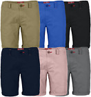 Mens Stretch Shorts Casual Wear Chino Flat Front Slim Fit Half Pants