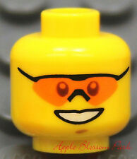 NEW Lego City Boy MINIFIG HEAD w/Sport Glasses - Police/Star Wars/Pirates/Agents