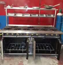 12 Burner Gas cooker Ftat Top +2 Oven, Restaurant/ Takeaway Catering equipment