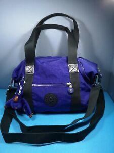 Ladies Kipling Handbag Shoulder Blue Red Medium New
