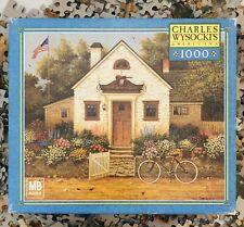Milton Bradley Future Baseball Player Jigsaw Puzzle 1000 Americana Folk Complete