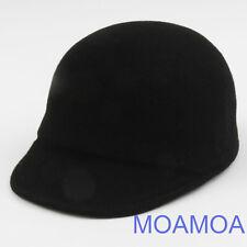 Moa0437 Black Hat Wool Design Women Unisex Style Travel Bucket Fashion Style New