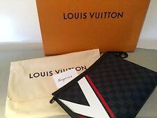 Louis Vuitton Pochette viaje Americas Cup * Edición Limitada Damier Cobalto Nuevo