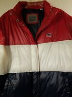Levi's Spell Out Puffer Jacket (LM9RN780) Red, White & Blue RED  Men's XL NWT