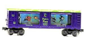 Vintage Lionel LRRC Pete's Place Freshwater Fish Farm Aquarium Car 3435 Purple