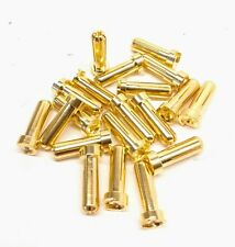 5mm oversized solid design gold plated bullet connector 10 pair