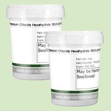 Chlorure De Magnésium Hexahydraté (Mer Morte Sel) 2 x 1 kg (2 kg) y compris la l...