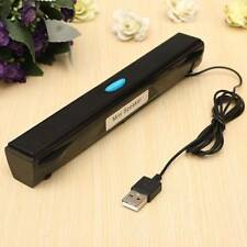 New USB Multimedia Column Mini Speaker Black for Computer Desktop Laptop Stereo