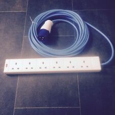 10 Metre Camping Electric Hook Up Lead Cable 6 WAY! 240 Volt FREE POSTAGE!!