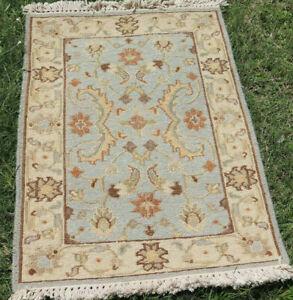 Afghan Faded Blue Kilim Hand Woven Wool Garden Area Rug 2'x3' Kelim Carpet